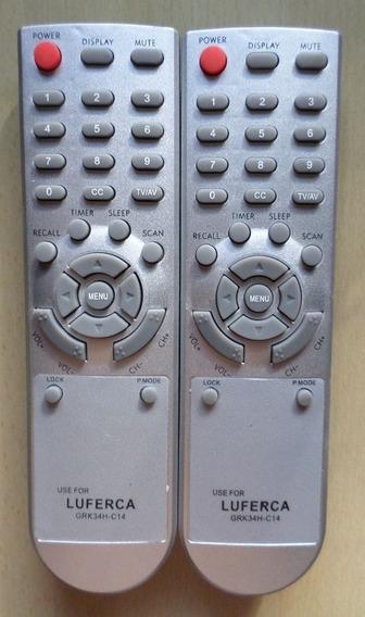 Control Remoto Tv Luferca Grk34h-c14. Dos Control * 500.000