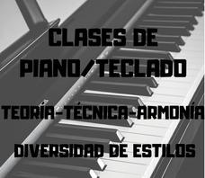 Clases Particulares De Piano/teclado (zona Oeste)