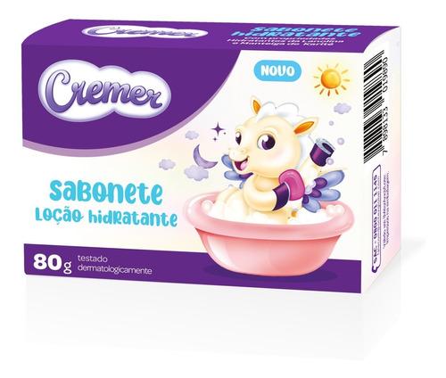 Imagem 1 de 5 de Sabonete Infantil Em Barra Cremer Loção Hidratante 80g