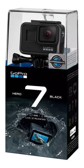Câmera Gopro Hero 7 Black 4k R$ 1.785 À Vista Hero7