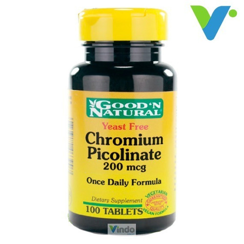 Chromium Picolinate 200 Mcg 100tab Good N Natural Picolinato