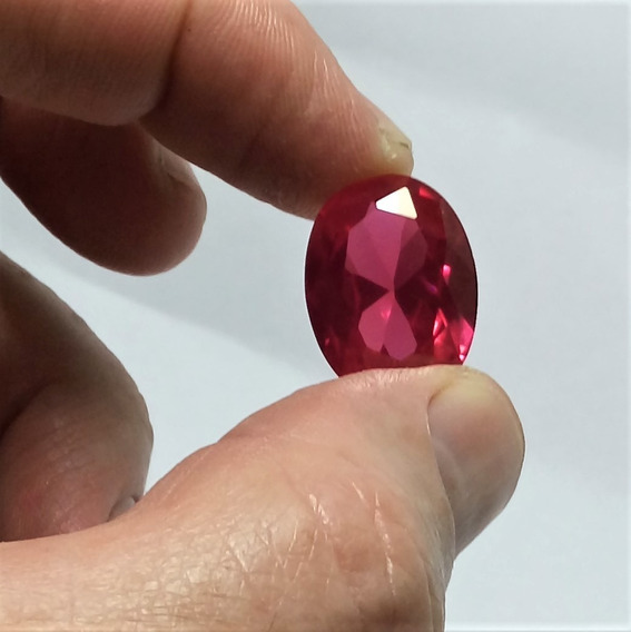 Rubi Rosê Pedra Preciosa Dark Rose Gems 15mmx20mm / 20cts