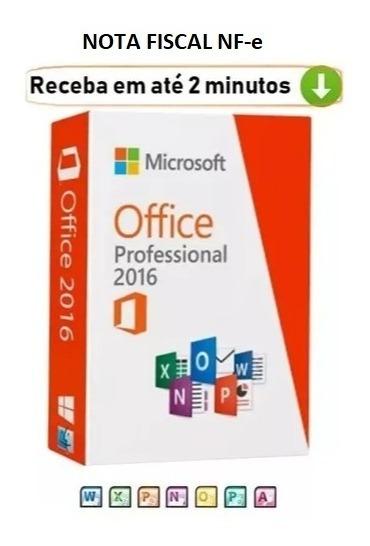 Pacote Office 2016 Key Licença Ativação Direto Microsoft Nfe