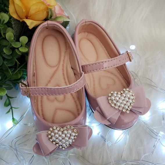 Sapato Infantil Mundofkids Sapatilha C/ Laço De Coração