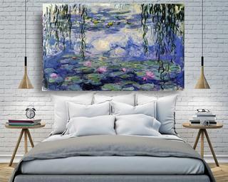 Cuadro Decorativo Pintura Al Oleo De Monet En Lienzo Canvas