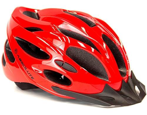 Capacete Ciclismo Bike Mtb Speed Absolute Nero Vermelho