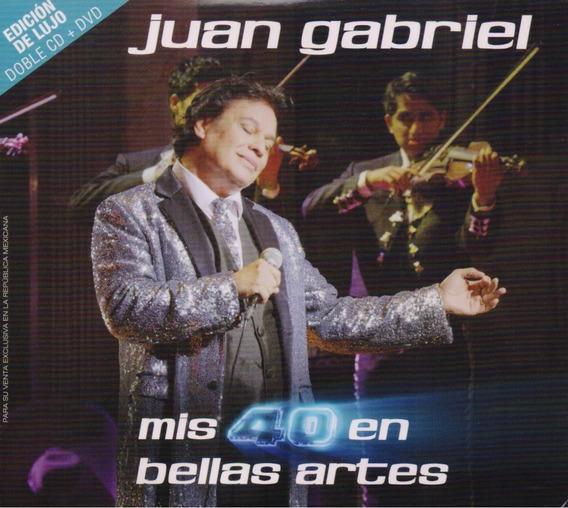 Mis 40 En Bellas Artes - Juan Gabriel - 2 Cd + Dvd - Nuevo