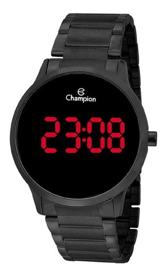 Relógio Champion Feminino Redondo Digital Led Ch40142d Preto