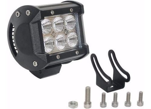 Faro Proyector 6 Led 18w 1620lm  Ideal Para Moto Cuatri 4x4