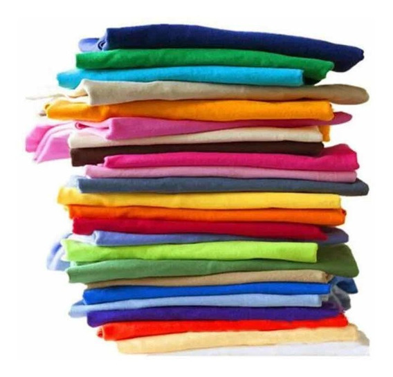 Kit 10 Camiseta Básica Camisa Malha 100% Algodão Promoção