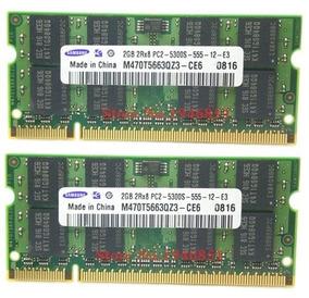 Kit 4 Gb Memória Notebook Samsung 2x2gb Ddr2 Pc2-5300s-555