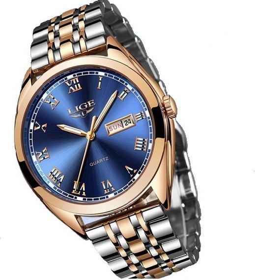 Relógio De Luxo Feminino Quartz , A Prova De Aguá