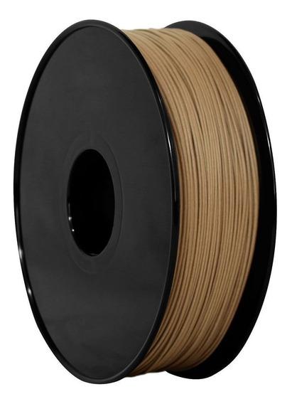 Filamento Madeira Escural 1,75mm - 800 Gr