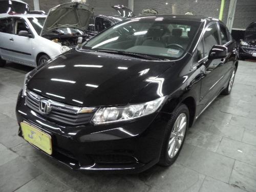 Honda Civic Lxs 1.8 16v Flex Autom Completo Couro 2014 Preto