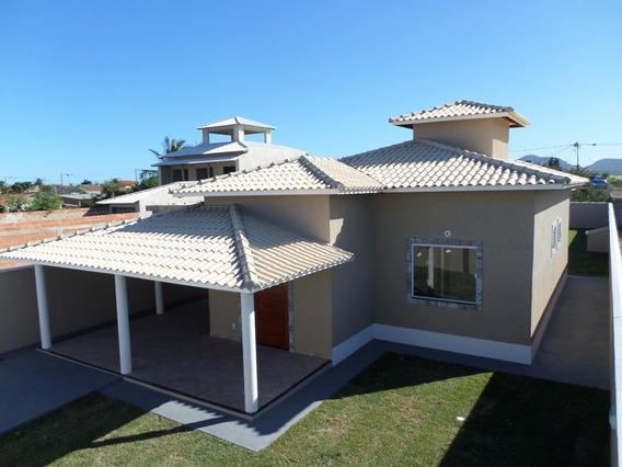 Linda Casa 3 Quartos, Área Gourmet Perto Da Praia!