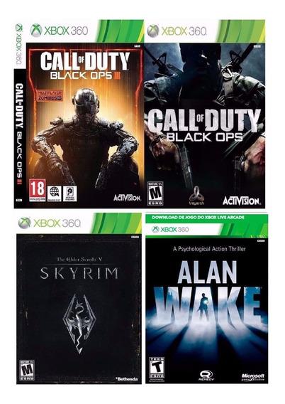 4 Jogos De Xbox 360 Midia Digital Original