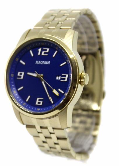 Relógio Magnum Masculino 10atm Casual Dourado -ma32158a