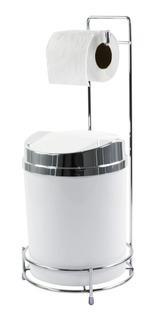 Suporte Para Papel Higiênico Com Lixeira Basculante 5 Litros