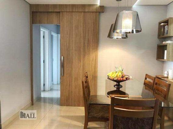 Apartamento Com 3 Dorms, Vila Nossa Senhora Do Bonfim, São José Do Rio Preto - R$ 480 Mil, Cod: 4777 - V4777