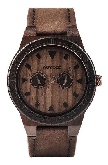 Relógio Madeira Wewood Masculino Wewood Chocolate Wwle02 Nfe