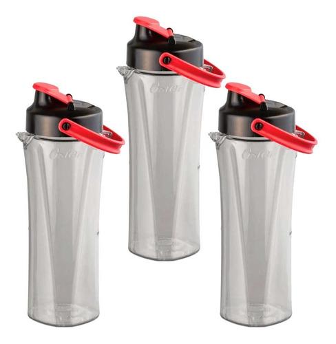 Imagen 1 de 2 de Vaso Tipo Termo X3 Unidades Para Licuadoras Oster Blend N Go