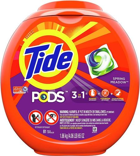 Detergente Tide 81 Cápsulas Unida - Unidad a $1580