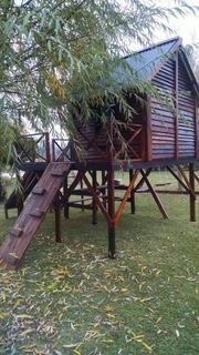 Casa En El Arbol. Hamacas. Tobogan. Trepador. Arenero.