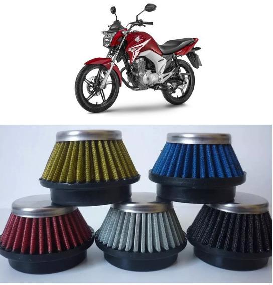 Filtro De Ar Esportivo Moto Fan 125 Ww038 38mm Várias Cores