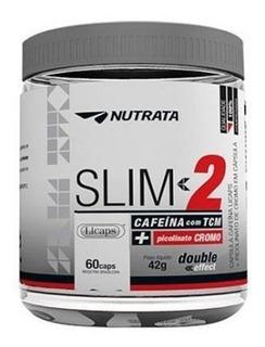 Slim 2 - Nutrata - 60 Cápsulas ( Cafeína + Cromo )