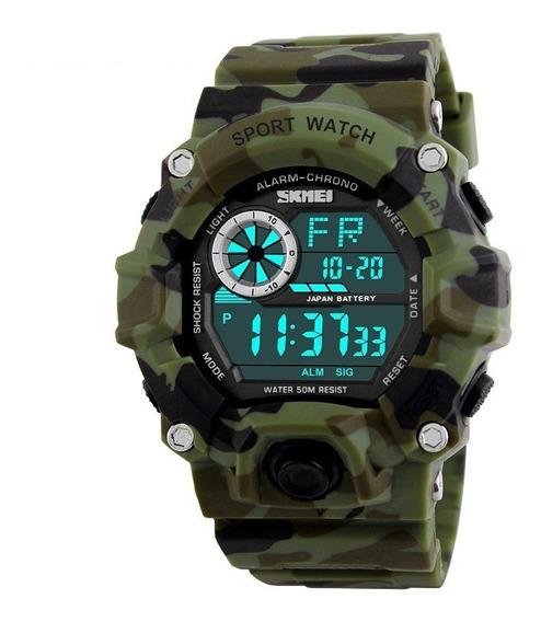 Relógio Masculino Skmei Camuflado Original A Prova Dágua 50m