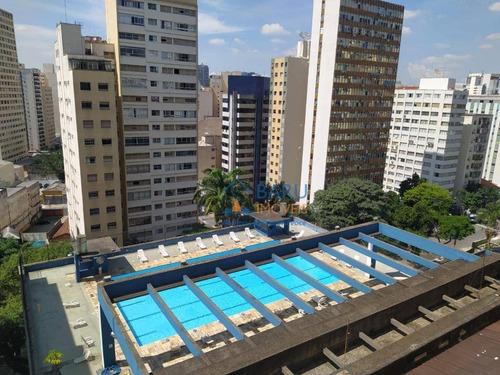 Kitnet Com 1 Dormitório Para Alugar, 30 M² Por R$ 1.500/mês - Higienópolis - São Paulo/sp - Kn0248