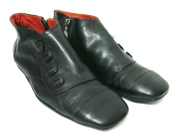 Sofi Martire Zapatos Botinetas 39/40 Cuero Negro (ana.mar)