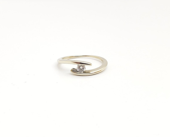 Anillo Oro Blanco 18k-brillante-compromiso-2,3 Grs- An193