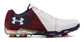 Zapatos De Golf Under Armour Spieth 2 3000165-107 Blanco