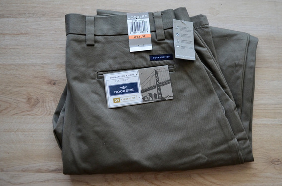 Pantalon Dockers Nuevo Talla W33 L32 Verde Claro No Levis