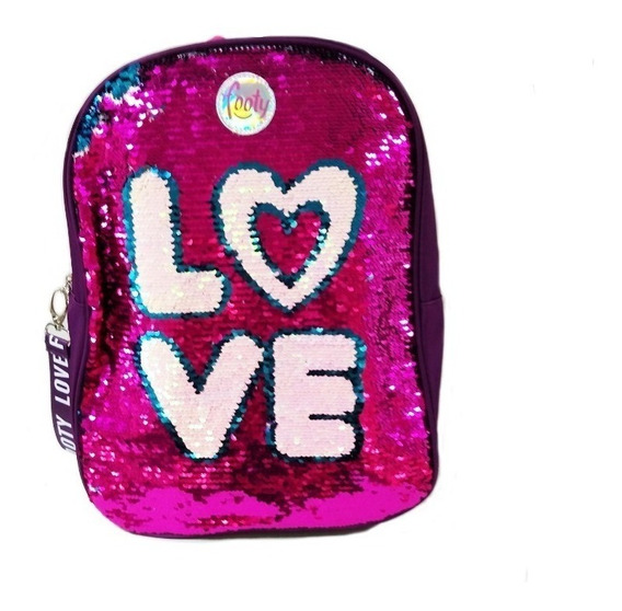 Mochila Fashion Love C/ Lentej. Reversibles 14