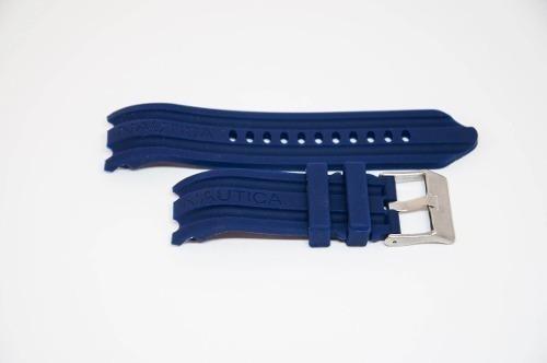 Pulseira Relogio Nautica 24mm Azul Escuro