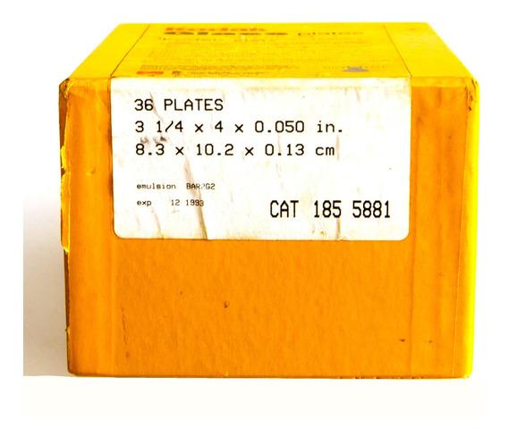 Kodak Glass Plates (placas De Vidro) . Caixa Com 36 Placas.