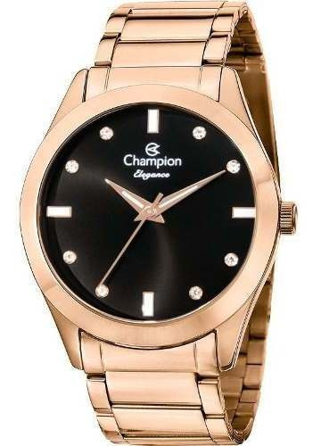 Relogio Feminino Rose Champion Elegance Cn25930p