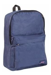 Mochila Escolar Mediana 15 Pulgadas Azul Con Bolsillo 3580