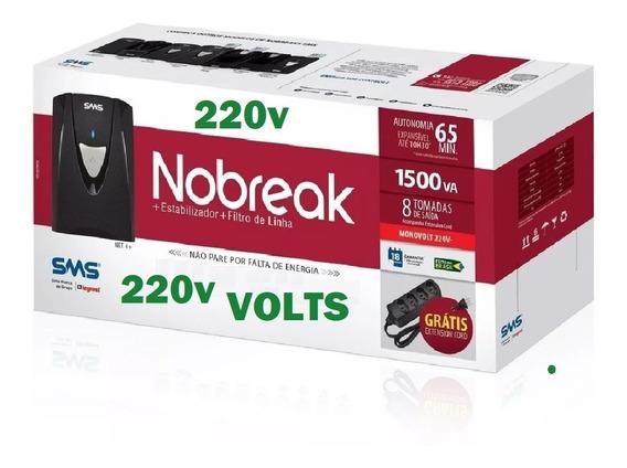 Nobreak Sms 1500va Entrada Saída 220v Engate Bateria Externa
