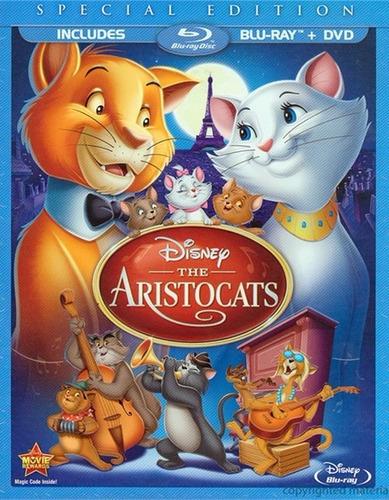 Imagen 1 de 3 de Blu-ray + Dvd The Aristocats / Los Aristogatos
