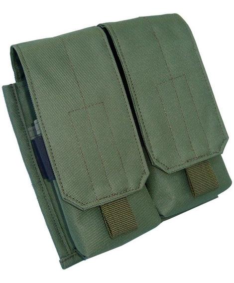Portacargador Doble Para 2 Cargadores Sistema Molle - M4 M5 M16 Fal/tactico Militar/policia/gendarmeria/seguridad