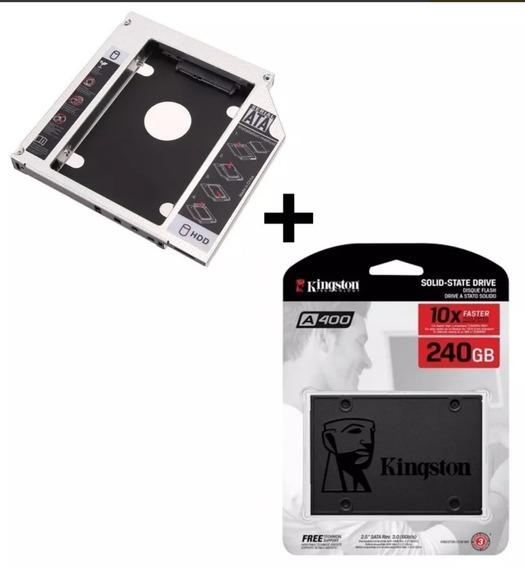 3x Hd Notebook E Pc Ssd 240gb Kingston A400 2,5 + 1x Caddy
