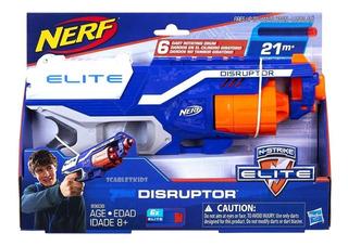 Nerf N-strike Elite Disruptor + 6 Dardos Combo Orig Hasbro