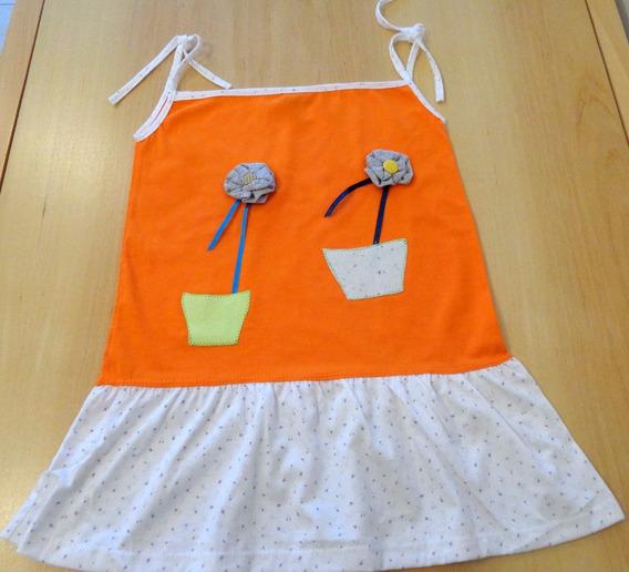 Soleras Para Nena Con Original Aplique De Dos Flores Grises