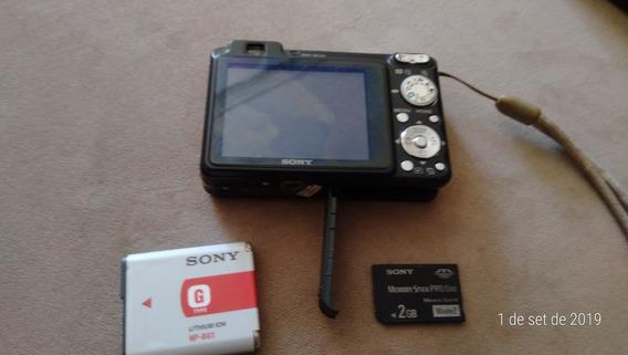 Câmera Sony Dsc-w110 Full Hd 7.2 Mega Pixels + Cartão 2gb