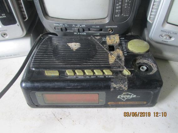 Radio Relogio Cougar P/ret,pecas Ou Decoracao 45 Reais