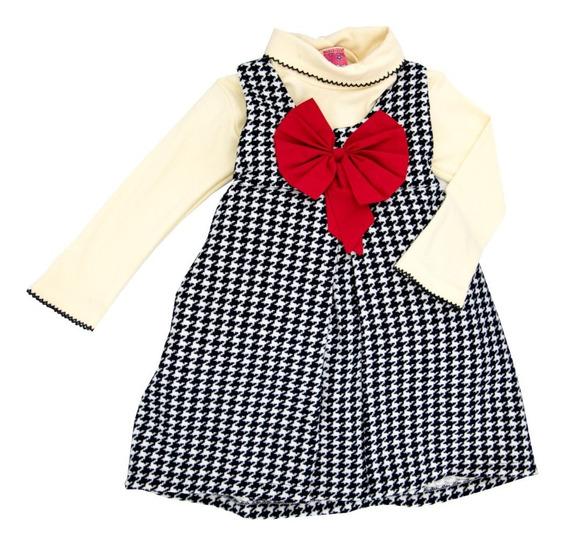 Conjunto De Vestido Con Blusa Para Niña En Oferta 4001