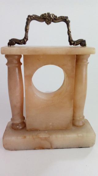 Caixa P/ Máquina De Relógio Mesa Em Alabastro Antiga